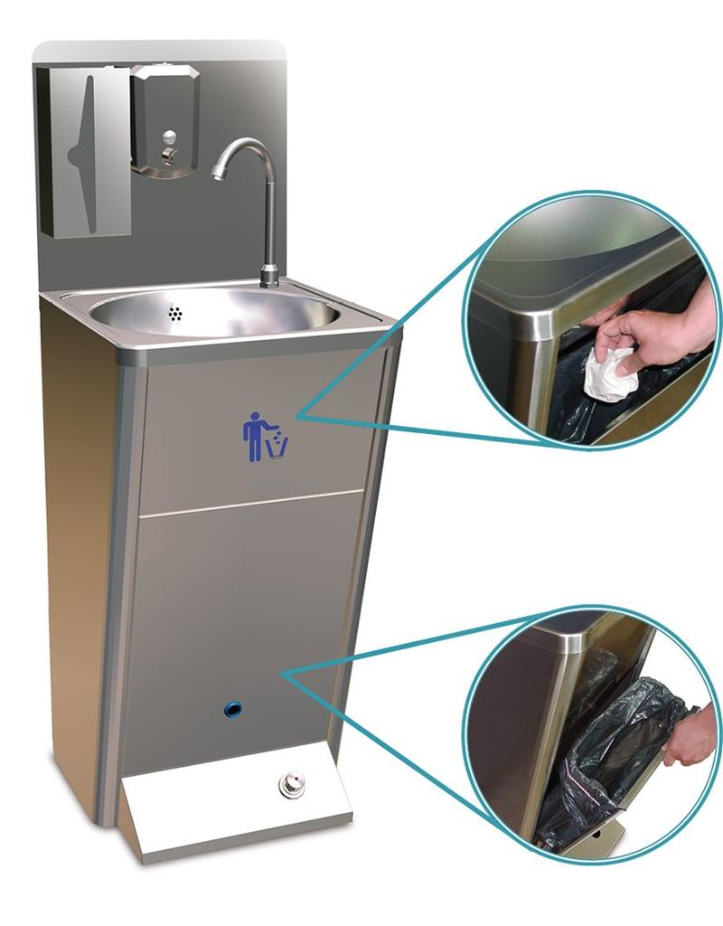 Standard hand wash basin with dispensers