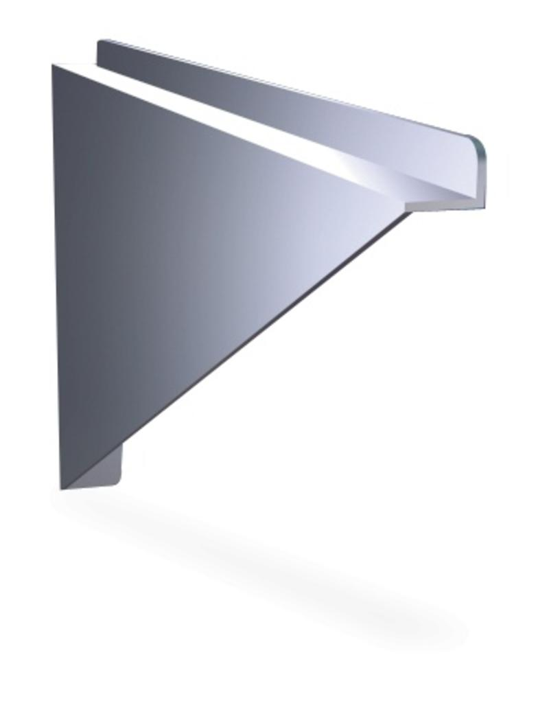 Wall shelves with seperate brackets (closed type)