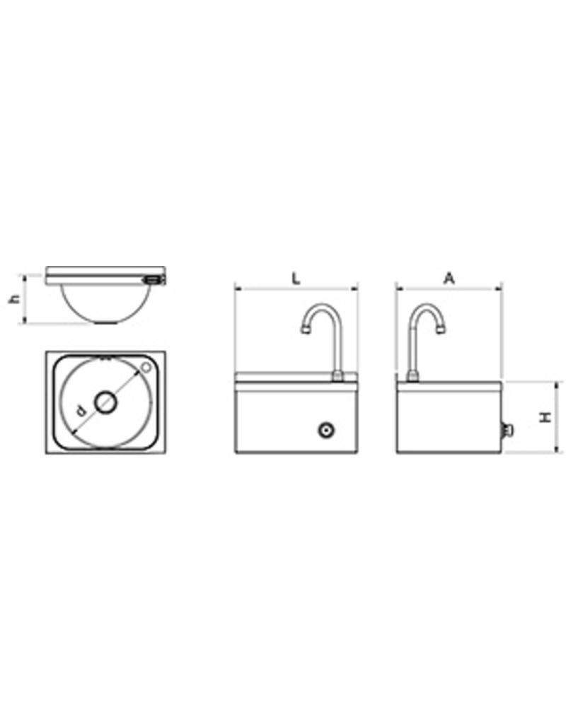 Handwasbak XSmall - muurbevestiging