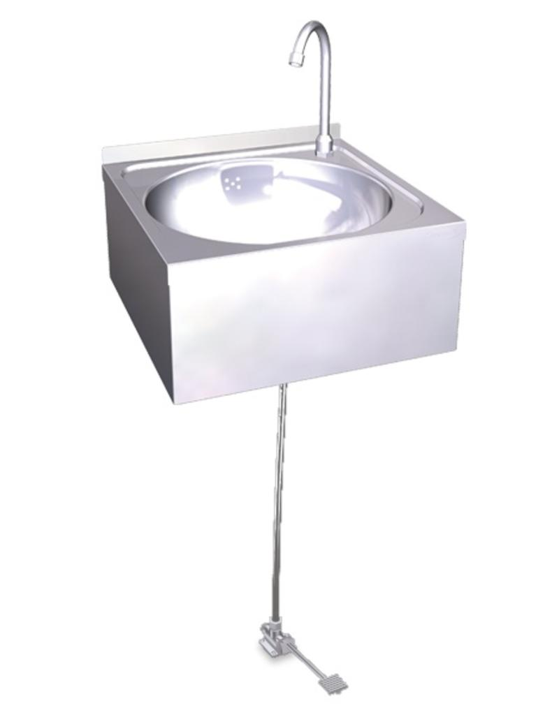 Hand wash basin, one pedal operated
