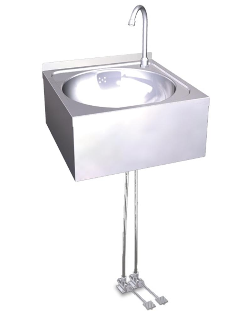 double pedal operated hand wash basin