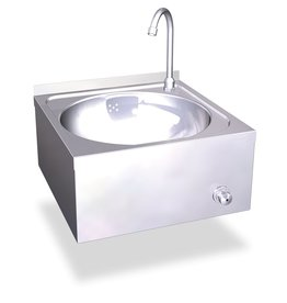 Knee operated hand wash basin