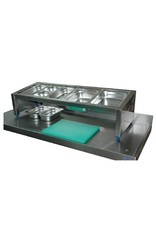Worktop and wall fixed Gastronorm containerholder