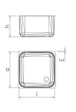 Inlas spoelbak600/800/1060 mm