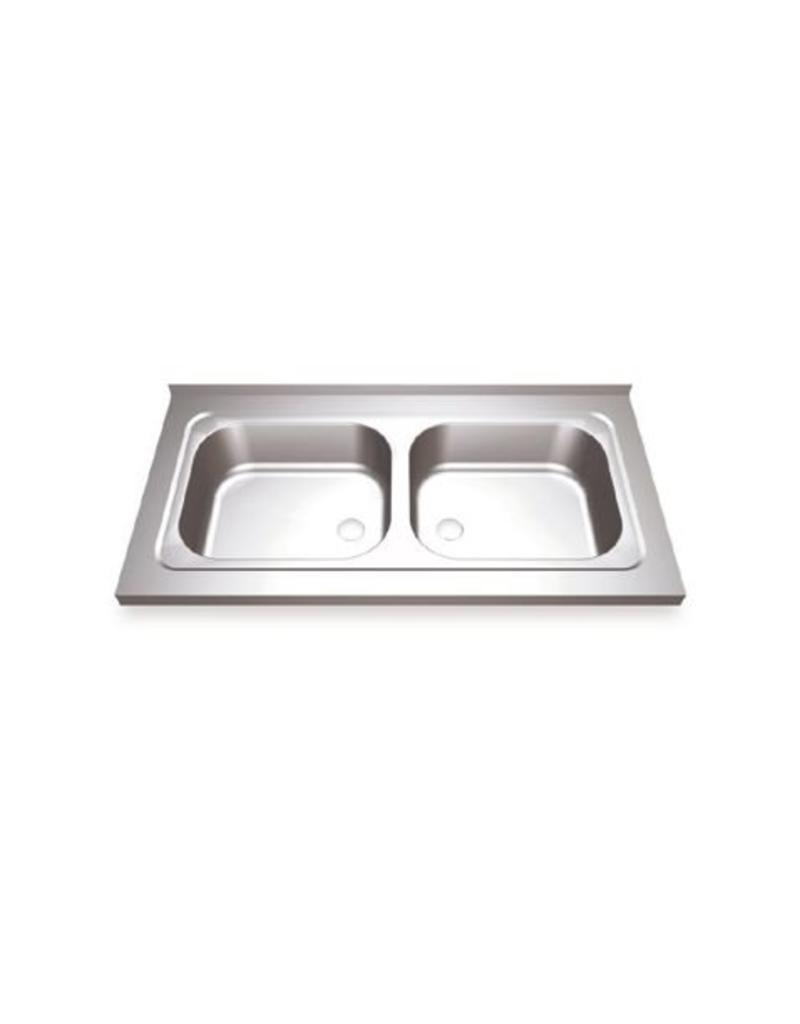 Sink Unit with two sinks