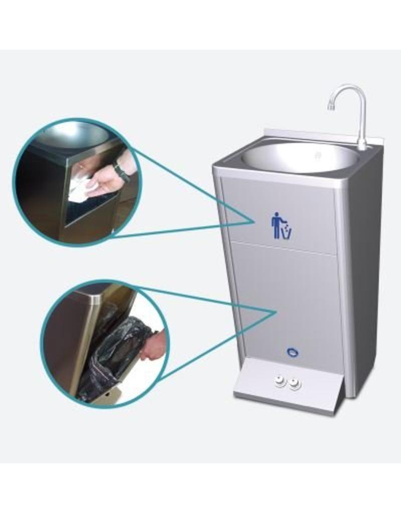 Fricosmos Mobiele handwasbak met twee bestuurknoppen voor warm en koud