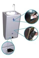 Mobiele wasbak met hoog debiet en ingebouwde watertank