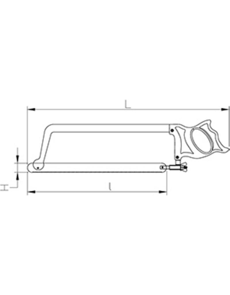 Zaag in roestvrij staal
