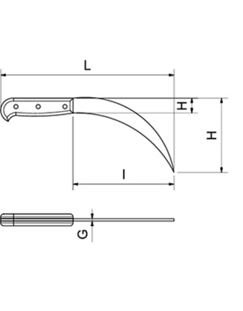 Curved ham knife