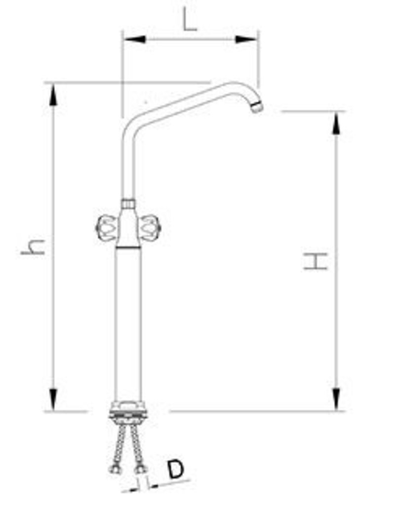 Column valve with double inlet with insulated head