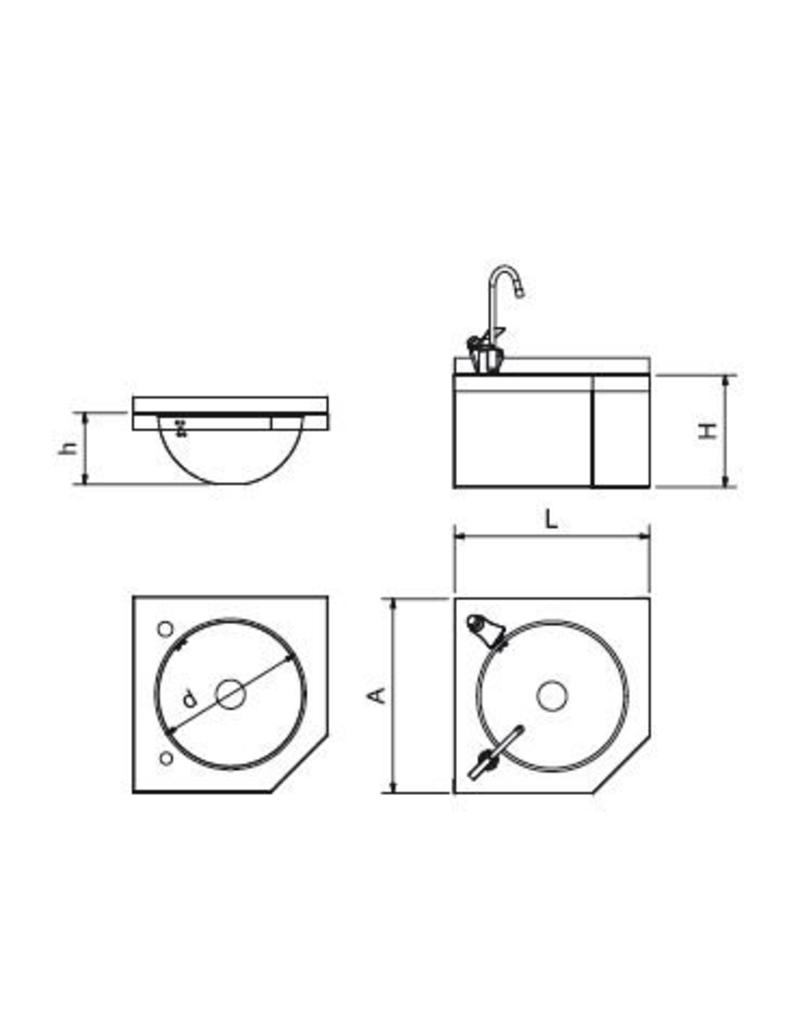 Wall-mounted corner fountain