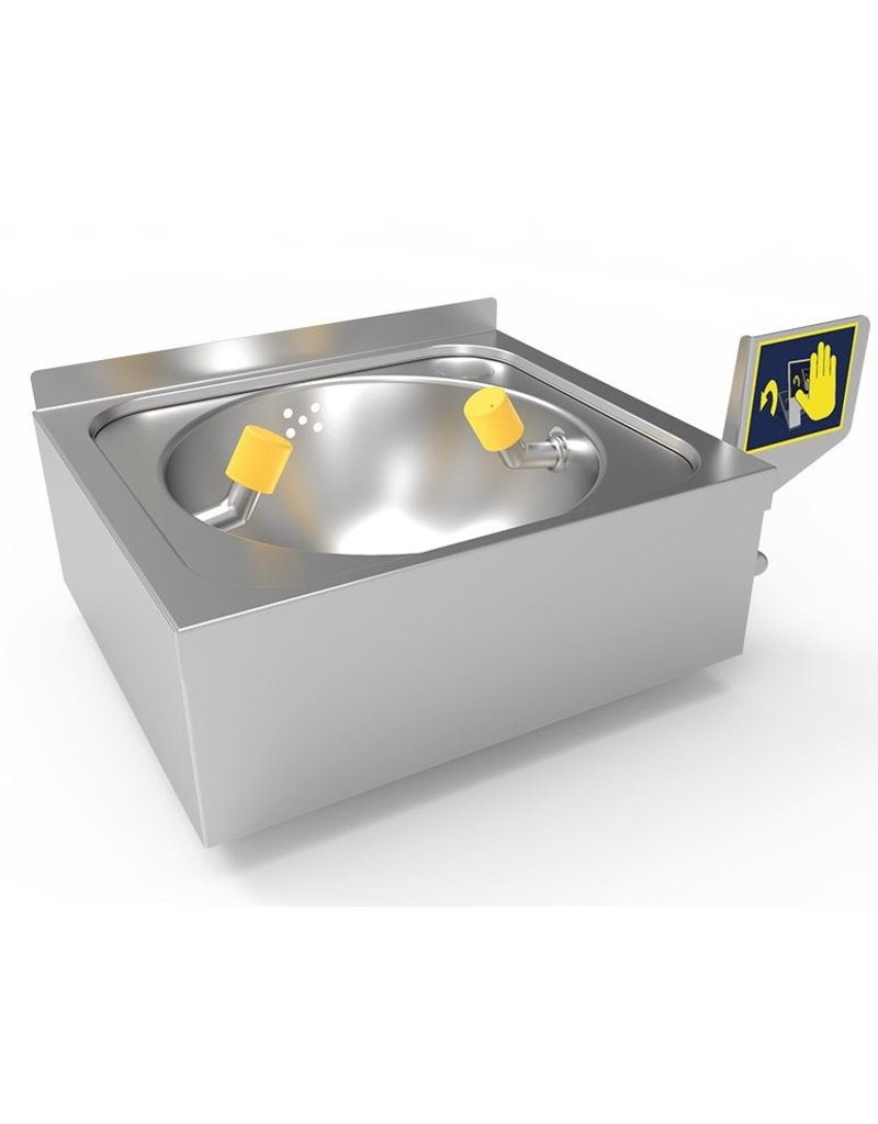 Fricosmos Stainless steel wall-mounted emergency eyes-bath