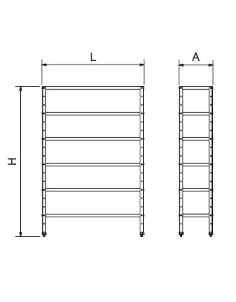 Complete modular storage shelves, thickness 1.5 mm