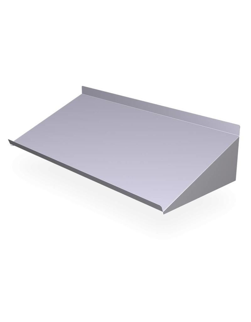 Sloping inclined wall shelf
