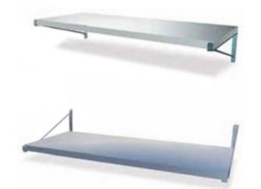 Wall shelves with seperate supports