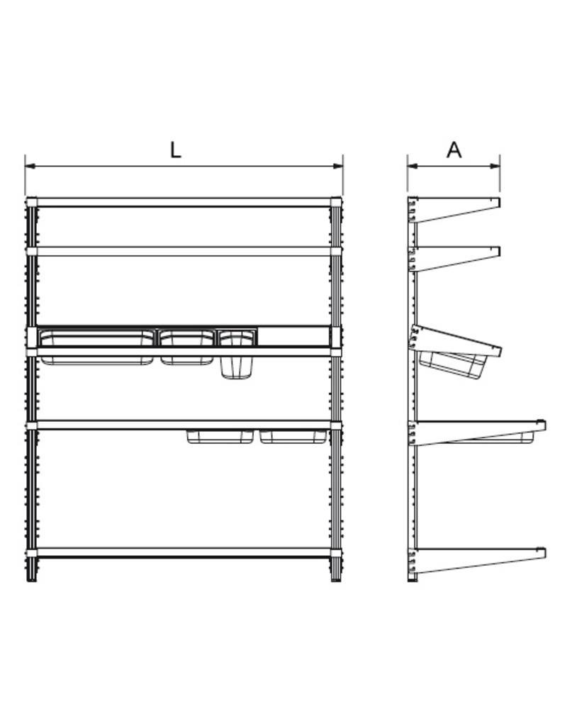 Standard wallfixed rack
