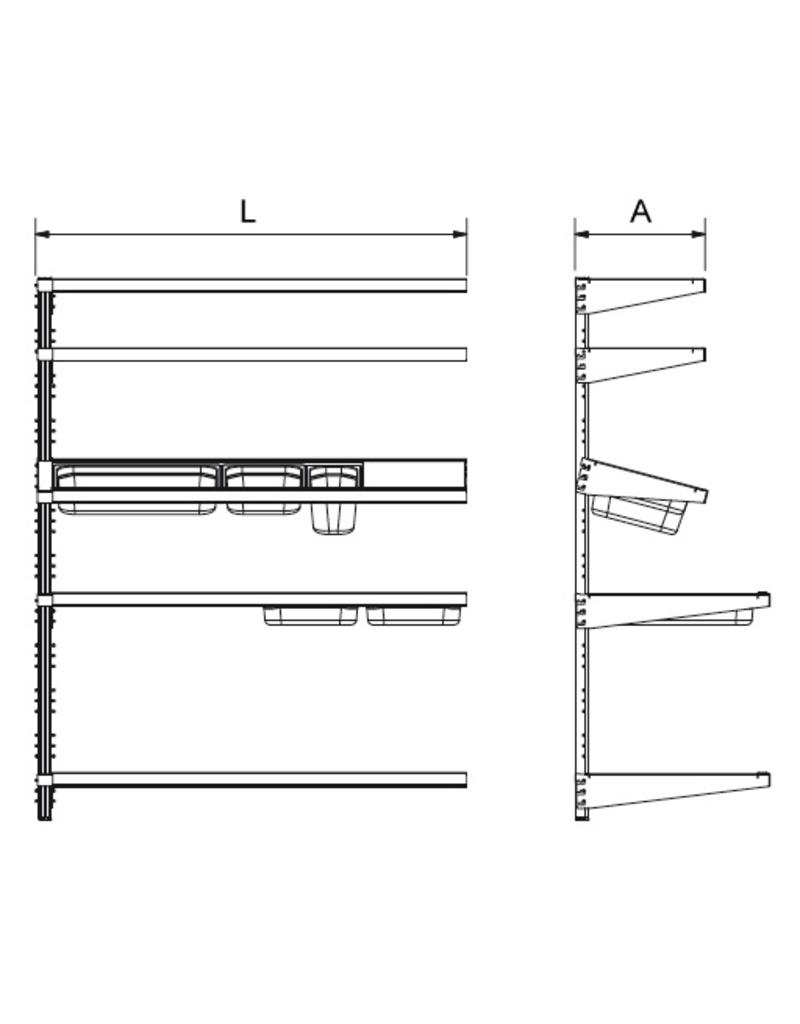 Extension for standard wallfixed rack