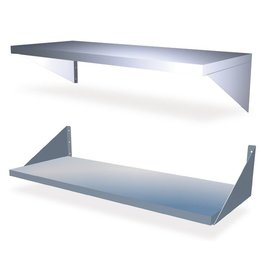 Wall shelve with brackets (closed type)