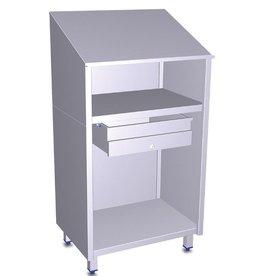 Fricosmos Stainless steel desk + drawer
