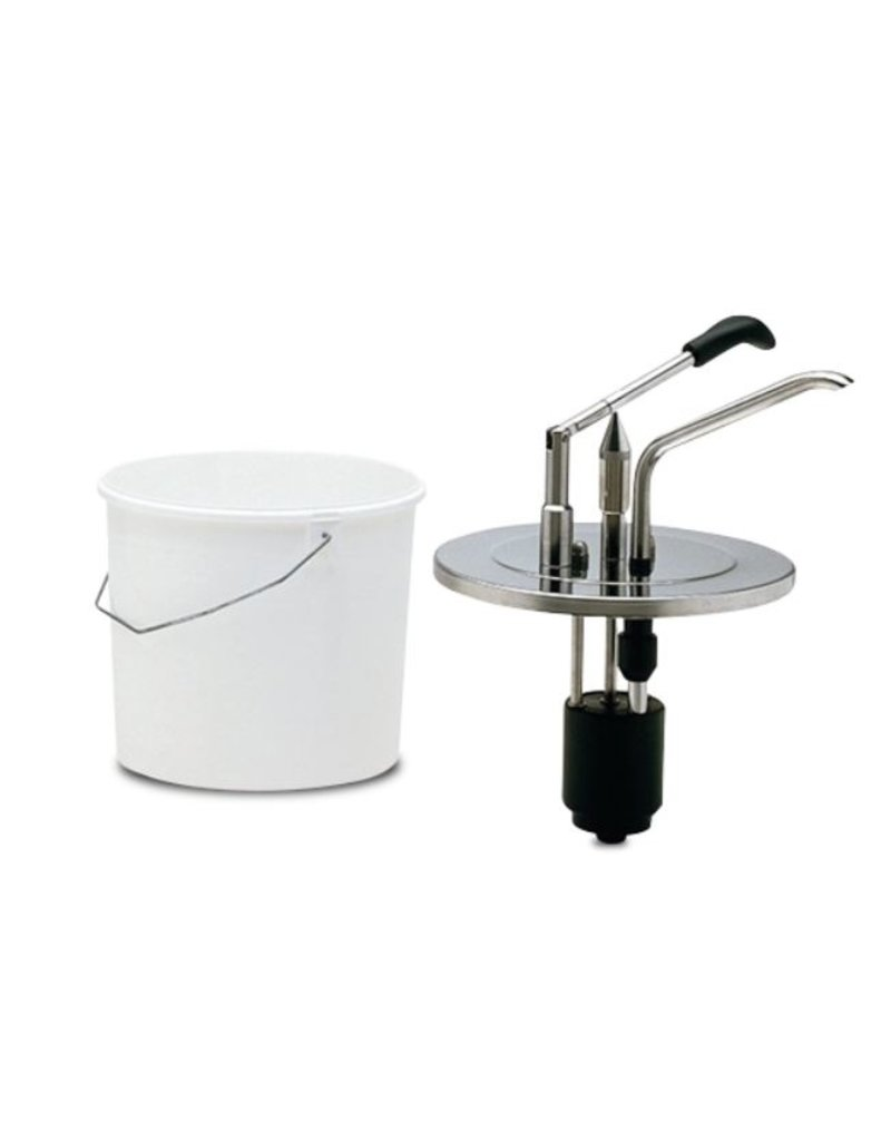 Fricosmos Sauce dispenser in stainless steel  + bucket