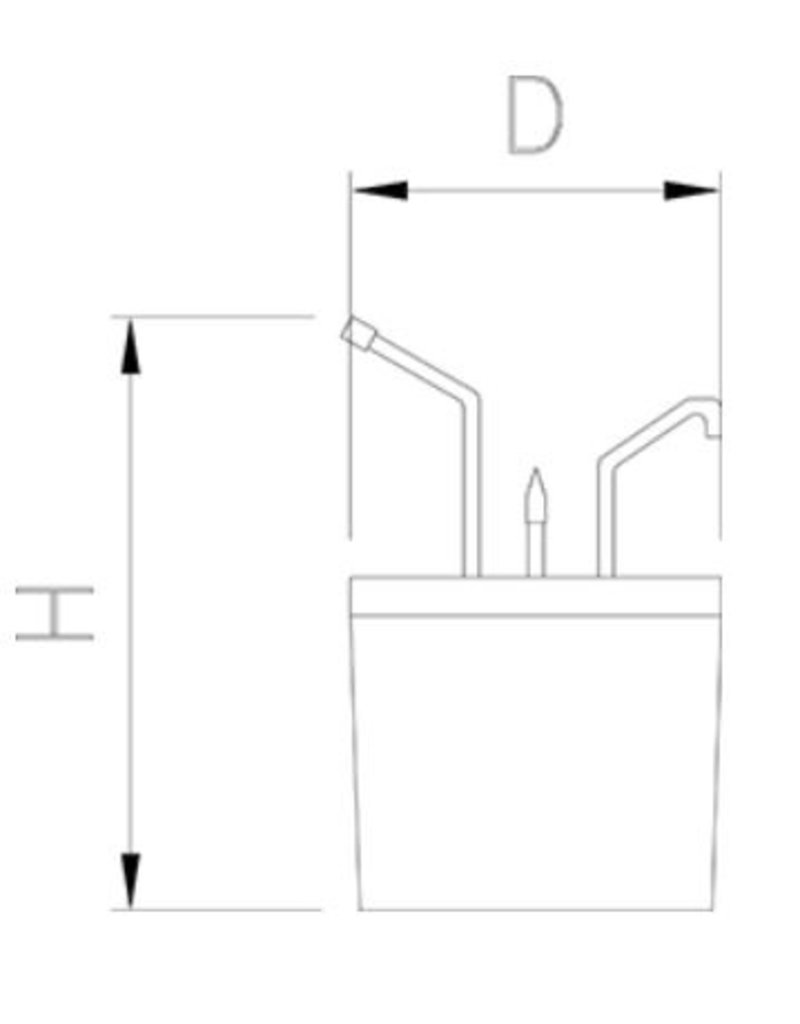 Fricosmos Saus dispenser inox met emmer