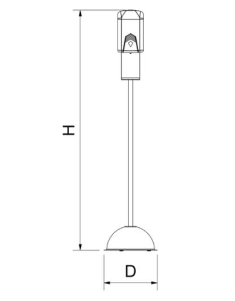 Fricosmos Electronically-operated dispenser of hydroalcoholic gel with column support