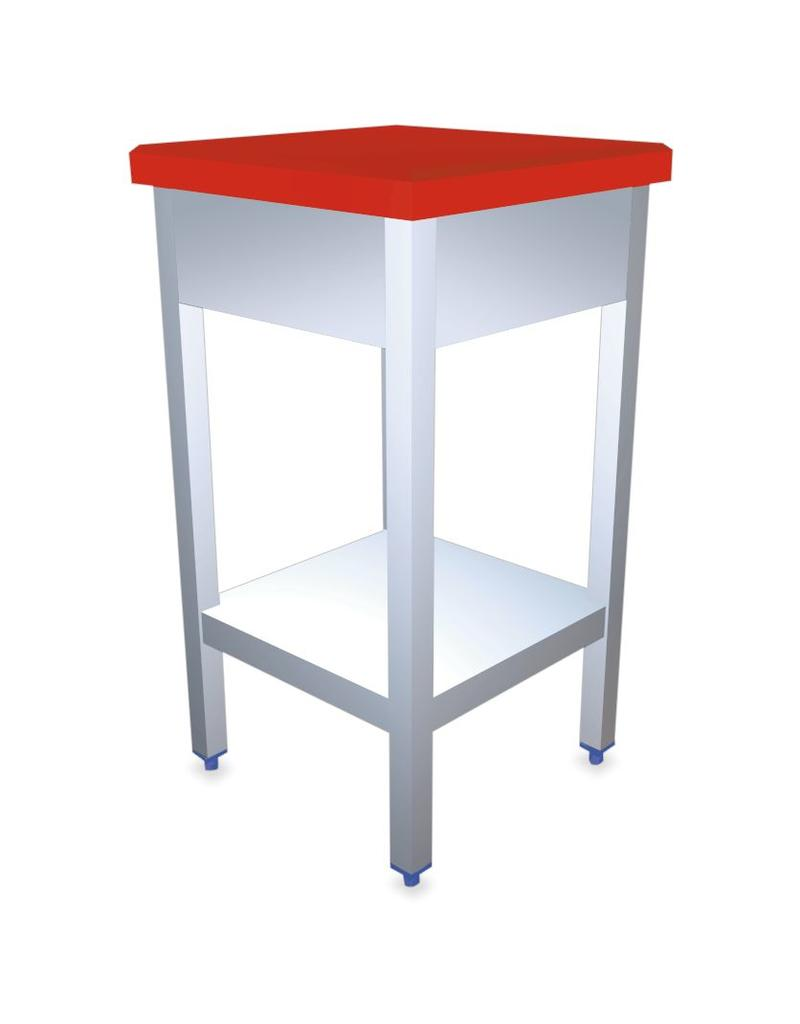 Polyethylene and stainless steel chopping block