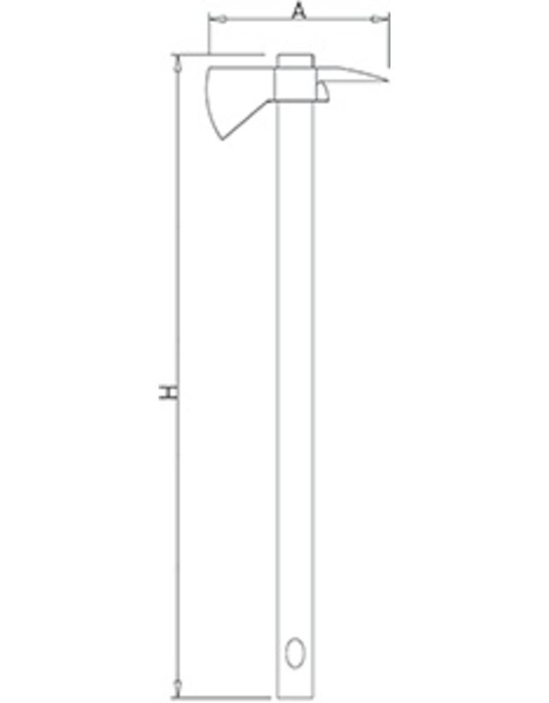 Long axe polyethylene handle