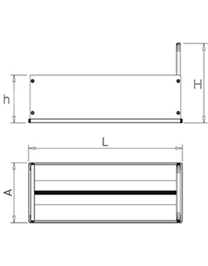 Werkblad messenhouder met dubbele huisvesting