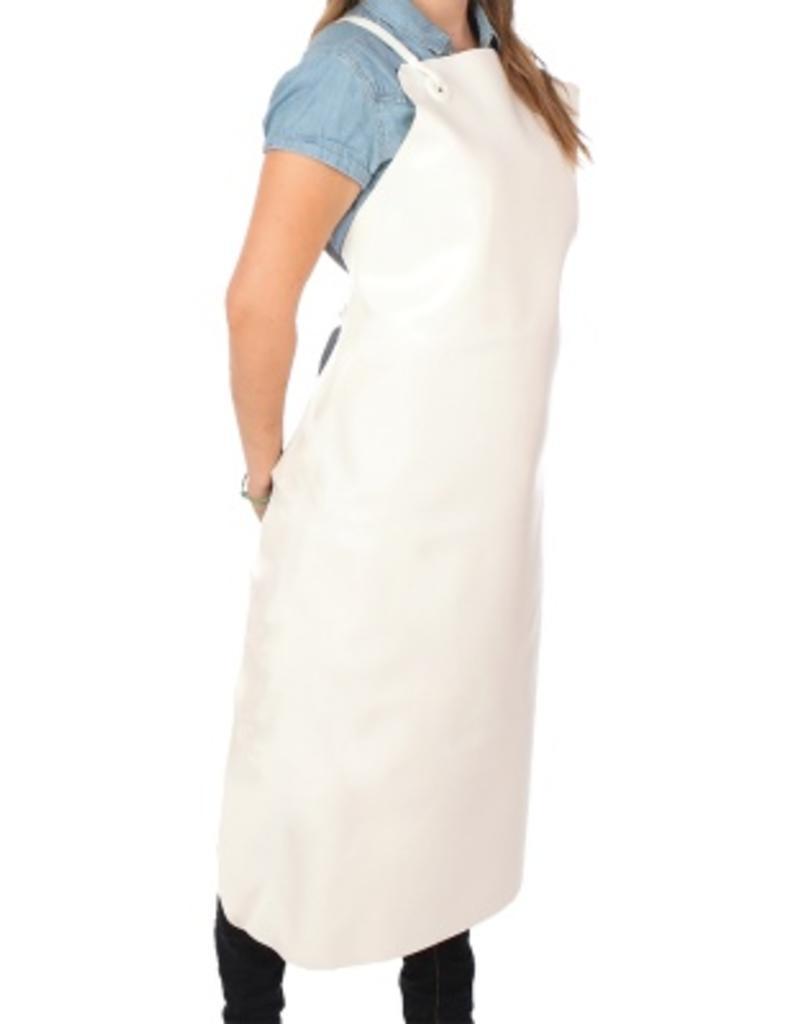 Faux leather apron