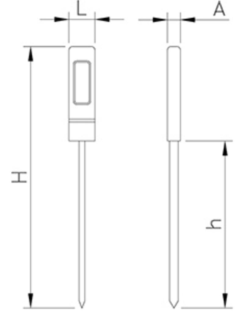 Waterbestendige digitale thermometer