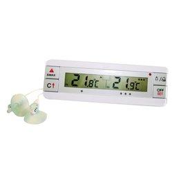 Digitale koelkast- en diepvriesthermometer met twee sondes
