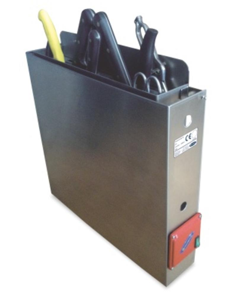 Knife sterilizer with hot water