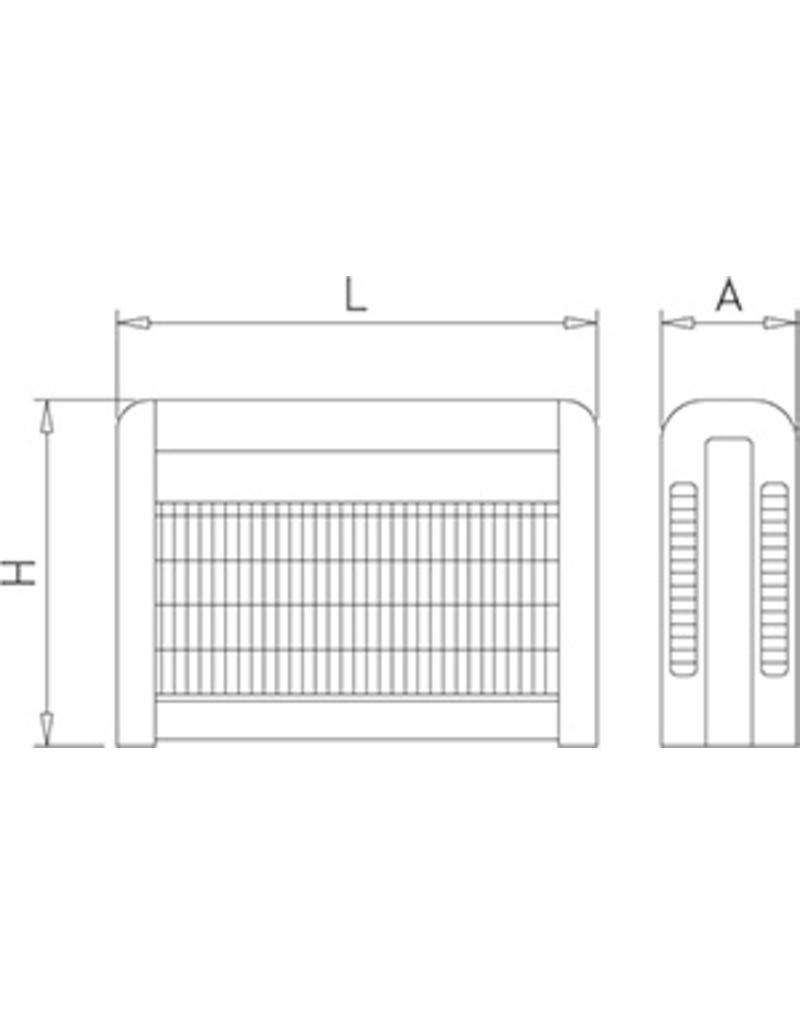 Instectenlamp model UK-INOX met elektrische grill
