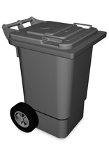 Waste bin with lid and wheels
