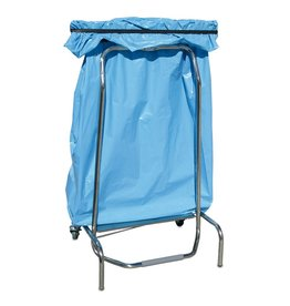 Rubbish bag holder with folding system