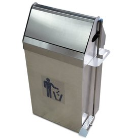 Dustbin in stainless steel with Swing Top