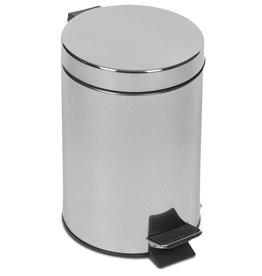 Wastepaper bin with pedal operation and lid