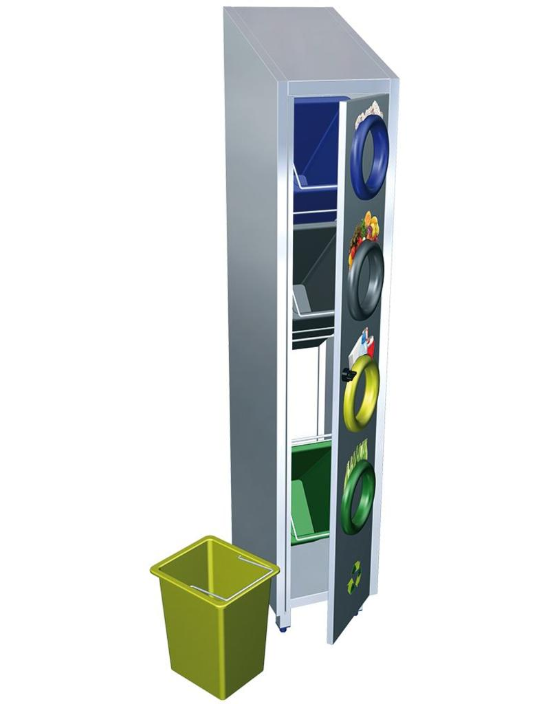Vertical recycling bin