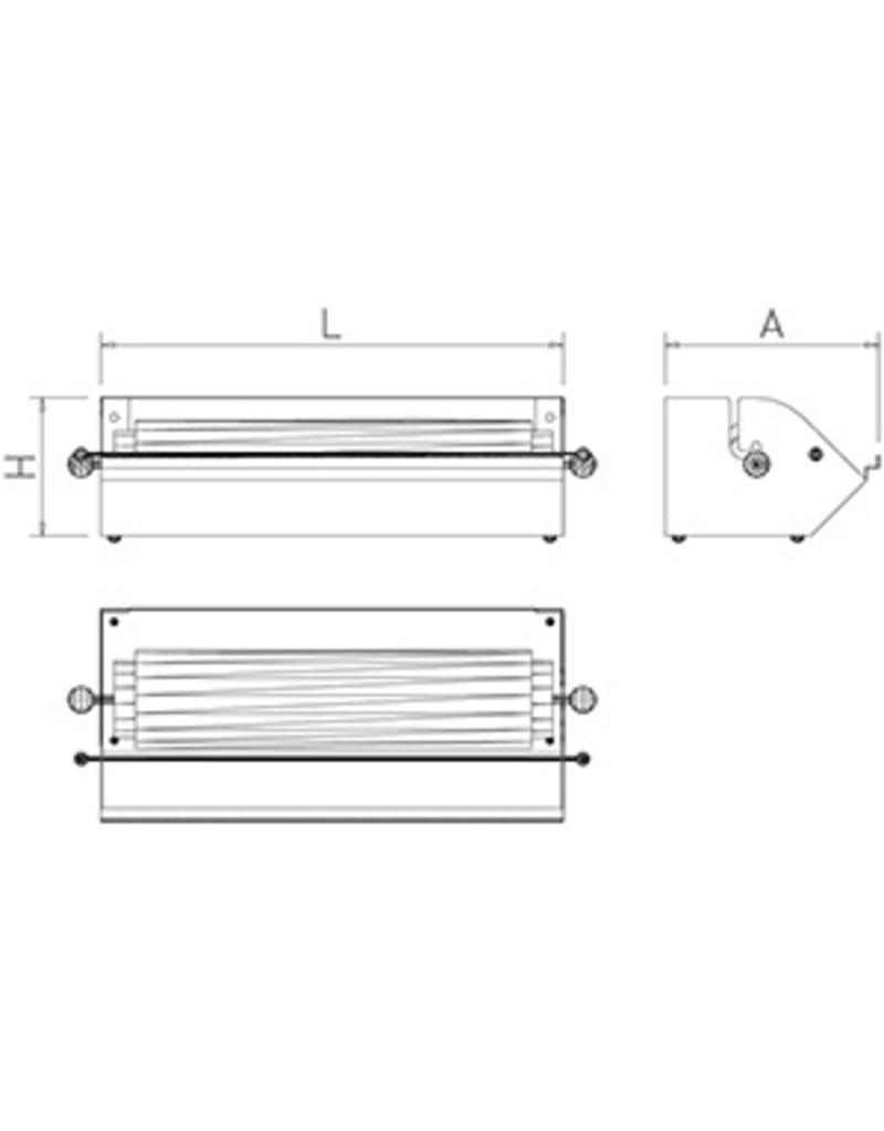 Dispenser for packaging paper