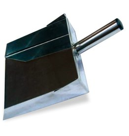 Dustpan in stainless steel