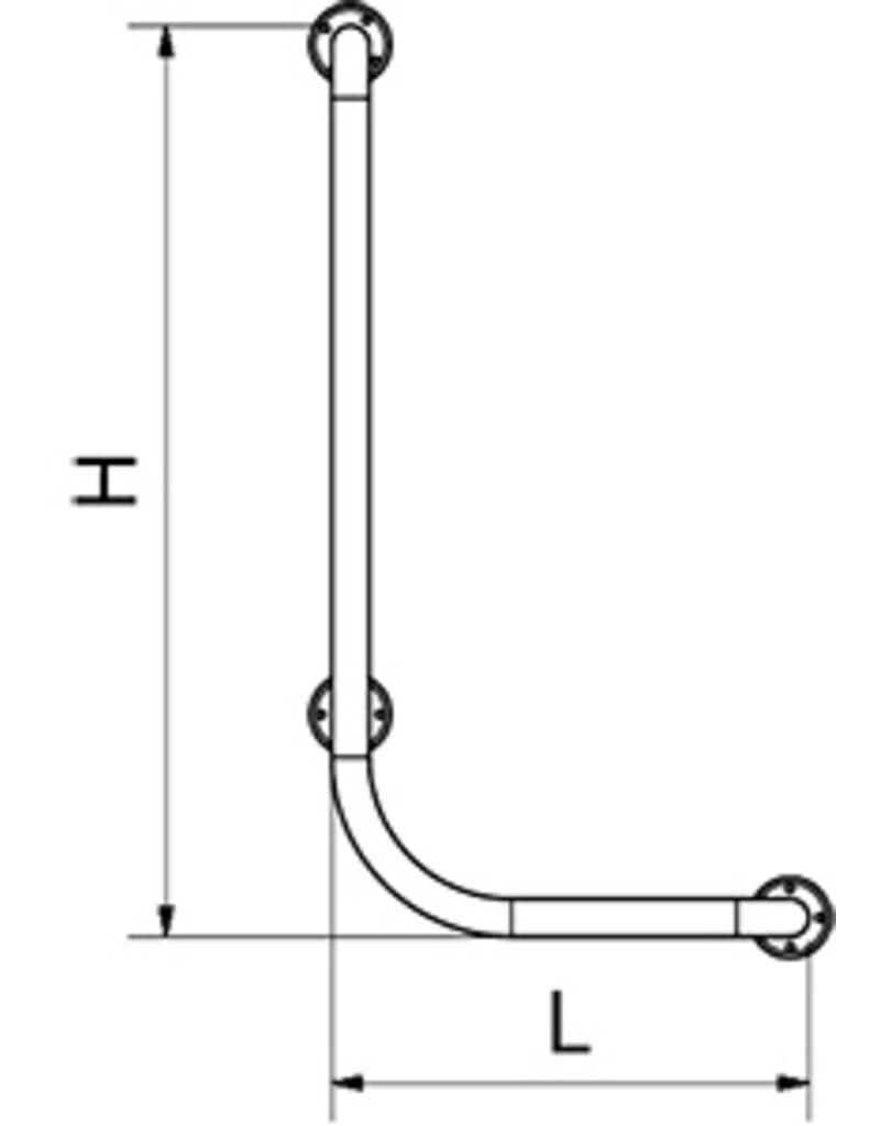 L-shaped support bar