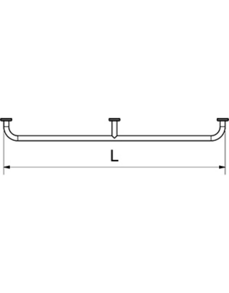 Horizontal support rod for wall