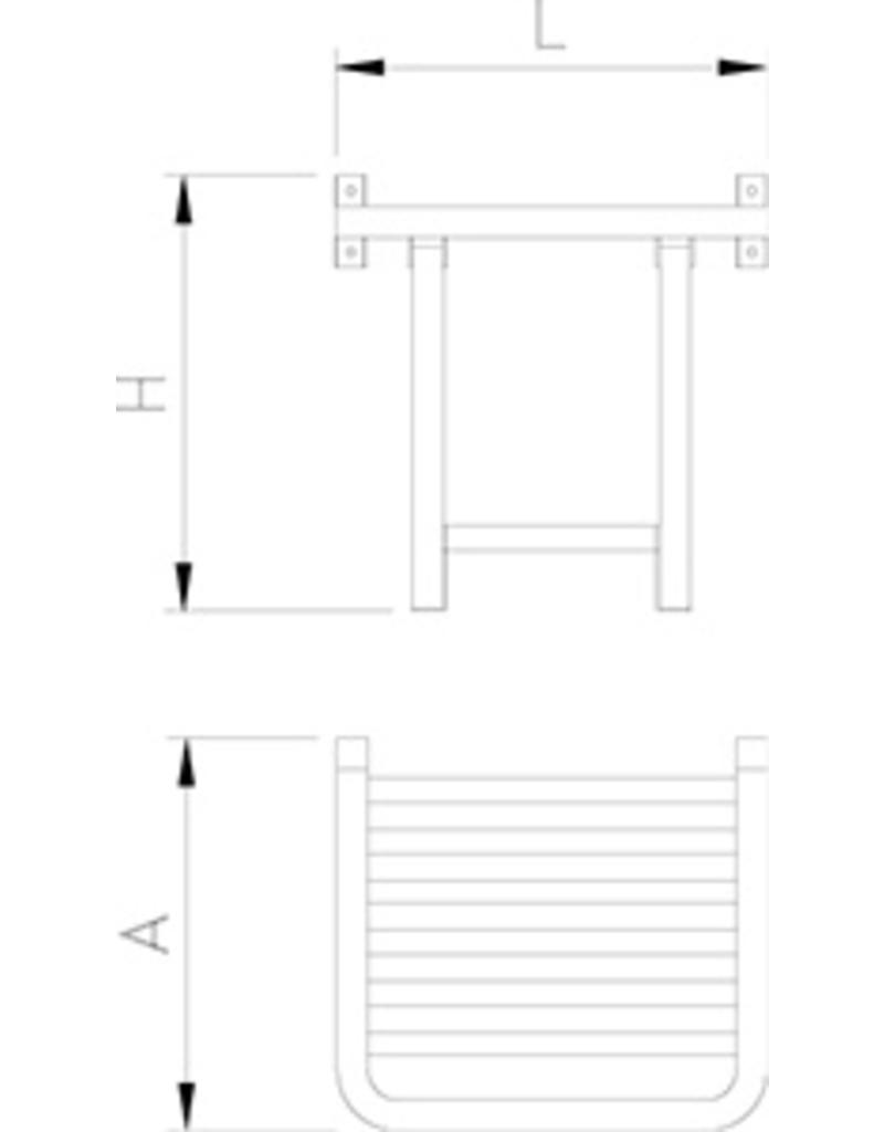Seating support on the wall