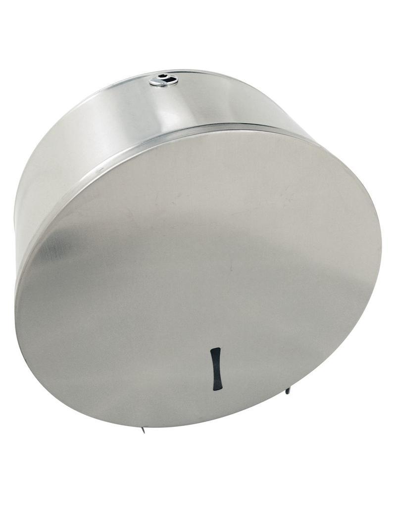 Toilet paper dispenser in stainless steel