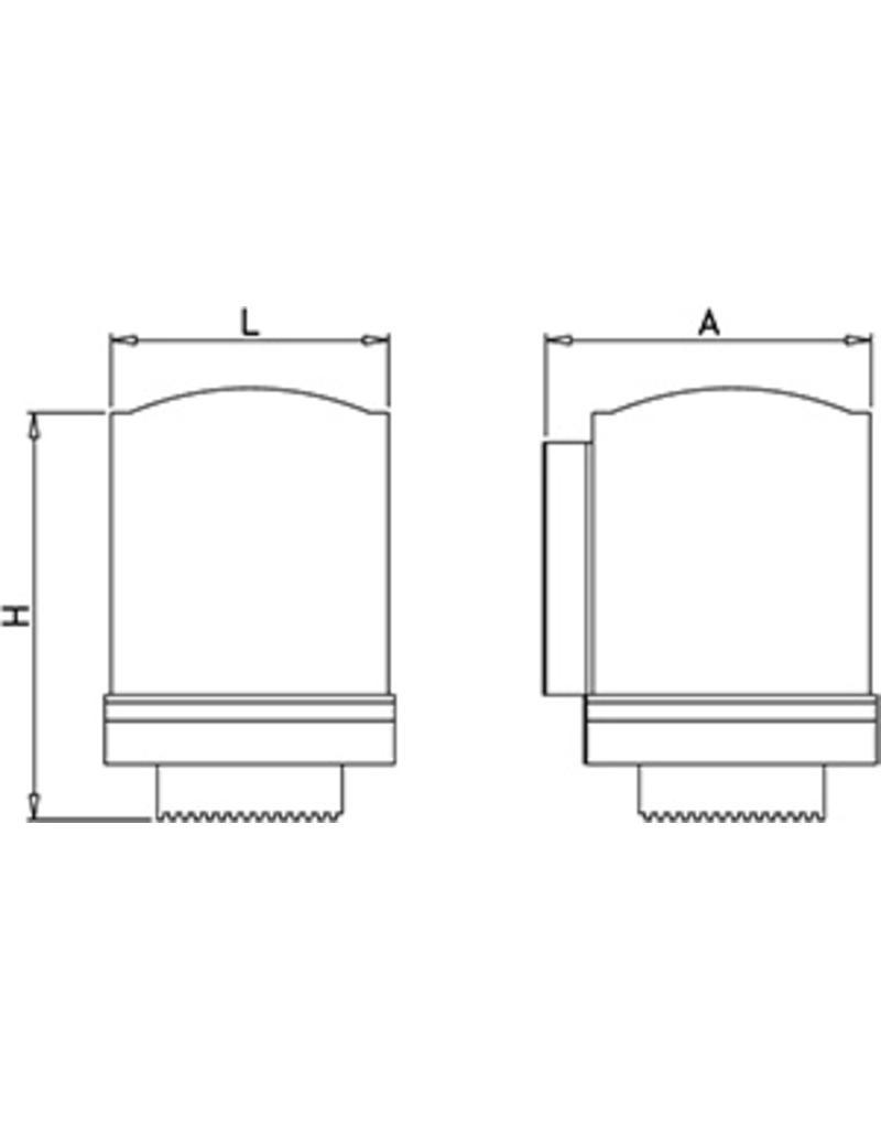 Tearing paper dispenser in stainless steel
