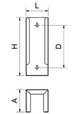 Nagelborstel dispenser in rvs