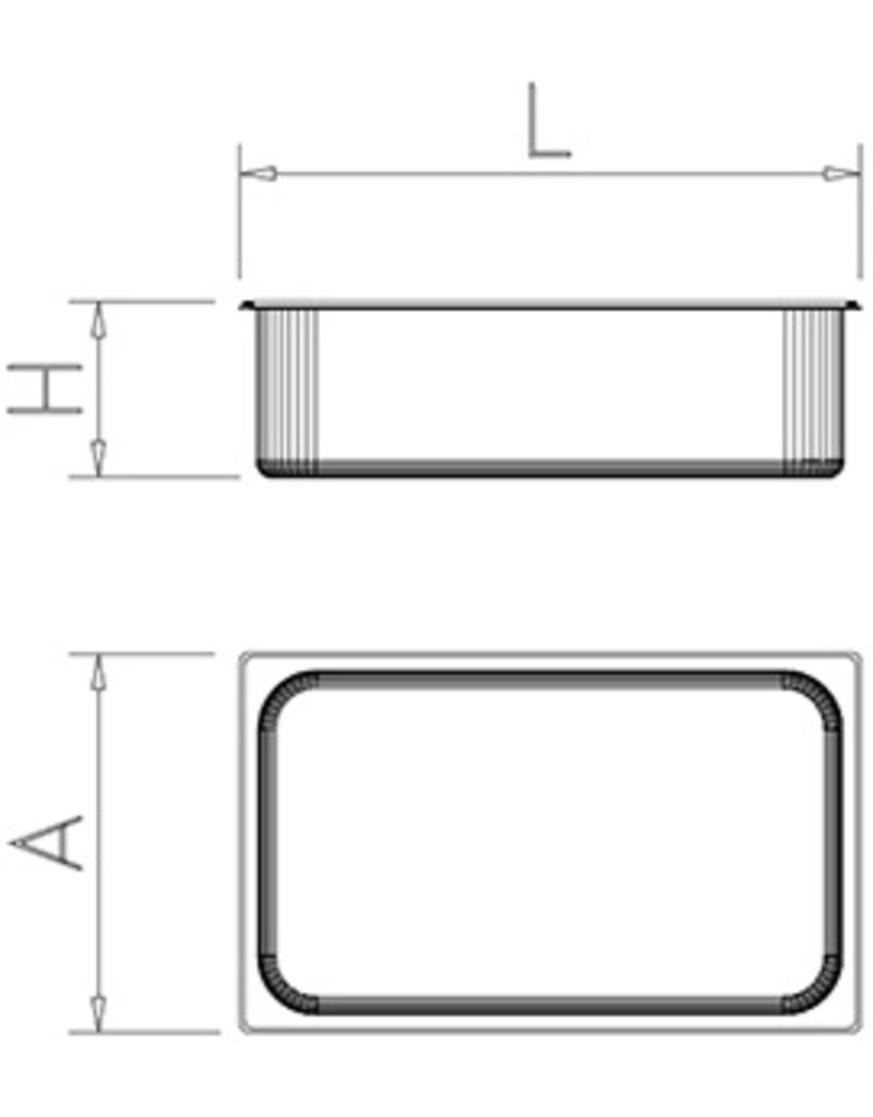 Gastronormbak - Model 2/1