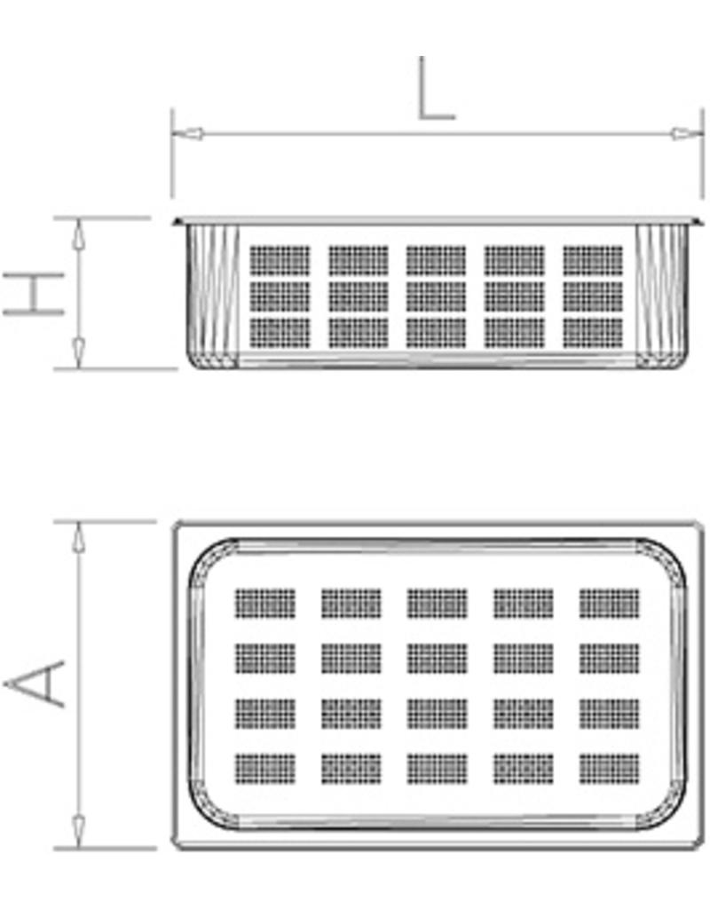 Perforated GN containers - Model 2/3