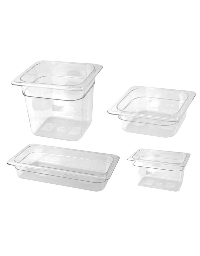 Gastronorm container in polycarbonate - Model 1/6